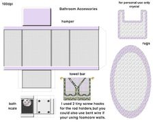 84 Best Dolls House Printables Bathroom Images In 2019 Dollhouses