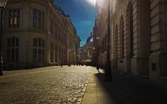 Download wallpapers Bucharest, Romania, summer, travel, old town, paving stones