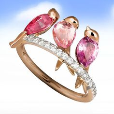 3ct Ruby Pink Sapphire Women 925 Silver Bird Wedding Engagement Ring Size 6-10 in Jewellery & Watches, Costume Jewellery, Rings   eBay!