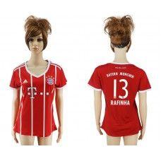 Bayern Munich Home 13 Rafinha Womens Rojo Adidas 2017-2018 Equipaciones de  Futbol Baratas e5730e272a770