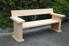 Macrocarpa clean lines bench