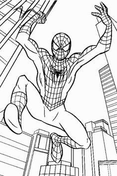Spiderman Coloring Pages Kids :Coloring Spiderman is more ideal for your elder kids, these are also a great way of developing motor skills in your younger child. Try these Spiderman coloring pages to print and enjoy coloring with your child.