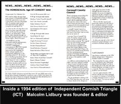 Article from Malcolm's ICT newsletter.  The voting by Westcountry Mp's on age of Homosexual consent. #LGBT  http://www.lgbthistorycornwall.blogspot.com
