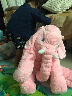 5-Color 60/40CM Plush Stuffed Animal Elephant Baby Soft Sleeping Back Cushion Pillow Dolls Toys