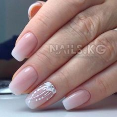 Wedding Nails-A Guide To The Perfect Manicure – NaiLovely Nail Manicure, Diy Nails, Cute Nails, Pretty Nails, Bride Nails, Wedding Nails, Diy Nail Designs, Nail Decorations, French Nails