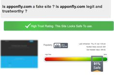 You may ask yourself - is AppOnFly trustworthy? Is it a normal bussiness site with high quality services and fast and safe applications? You can trust the result below: We are 91% safe, we have high trust rating and also we are very popular.