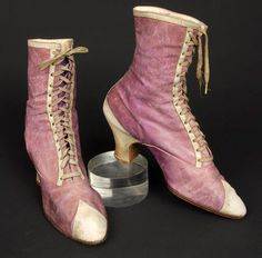 Two-tone leather boots, 1890s