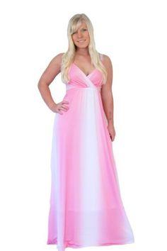 MontyQ Long Summer Party Holiday Maxi Dress Bridesmaid Dress Baby Pink Empire Style Plus Sizes available E15 Monty Q, http://www.amazon.com/dp/B009GC0ZS0/ref=cm_sw_r_pi_dp_Nk4Tqb1969V30