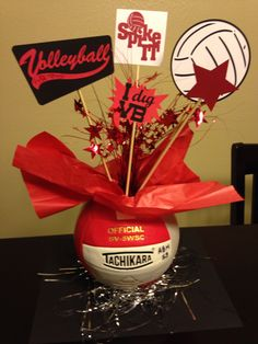 Centerpieces for volleyball banquet