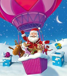 Jolly Old Santa Claus Illustrations - We all have a general concept of Santa Claus. He is a fat, jolly old man who travels the world on Chri. Very Merry Christmas, Pink Christmas, Christmas Ornaments, Funny Character, Character Design Inspiration, Christmas Pictures, Santa, Creative, 2d