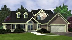Eplans Country House Plan - Three Bedroom Country - 2249 Square Feet and 3 Bedrooms from Eplans - House Plan Code HWEPL62075