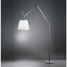 Artemide Tolomeo Mega Floor Lamp body only & dimmer Polished Aluminium Black Floor Lamp, Modern Floor Lamps, Modern Lighting, Architect Lamp, Filigranes Design, Home Design, Modern Design, Led Filament, Adjustable Floor Lamp