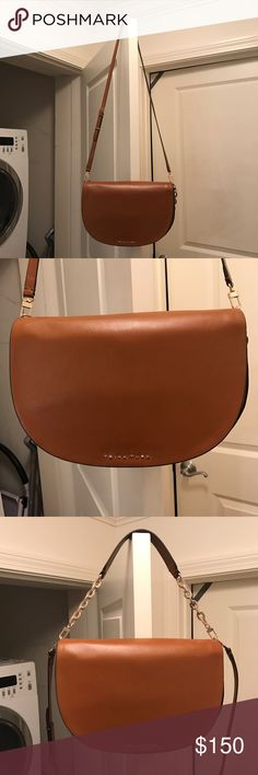 NWT Trina Turk Leather Crossbody Satchel Brand new. 100% Leather. Cognac color Trina Turk Bags Crossbody Bags