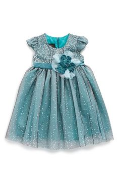 Isobella & Chloe Isobella& Chloe 'Winter' Glitter Empire Waist Dress (Baby Girls) available at #Nordstrom