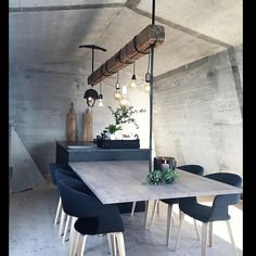 no Floating table Dinning Table, Dining Area, Dining Chairs, Dining Room, Floating Table, Luxe Decor, Interior And Exterior, Interior Design, Nordic Living
