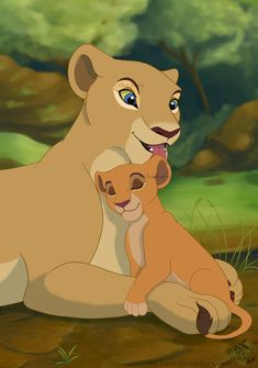 Nala and Kiara again. It's kinda sad how they replaced Kiara's happy personality with a bratty one before we got to see any screentime of her and Nala.