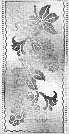 This Pin was discovered by Eil Cross Stitching, Cross Stitch Embroidery, Embroidery Patterns, Crochet Patterns, Crochet Table Runner Pattern, Crochet Tablecloth, Filet Crochet Charts, Crochet Borders, Cross Stitch Designs