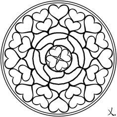 Mandalas para pintar de corazones - Imagui