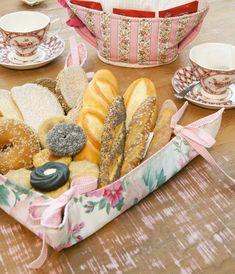 Cestinha de pães de patchwork
