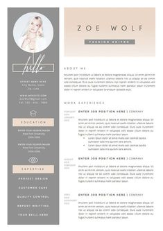 Resume Template and Cover Letter References by TheResumeBoutique #resume #cv #jobhunt #ad