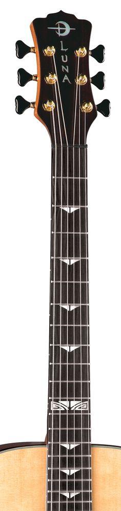 Luna Guitars Artist Series Deco Fingerboard