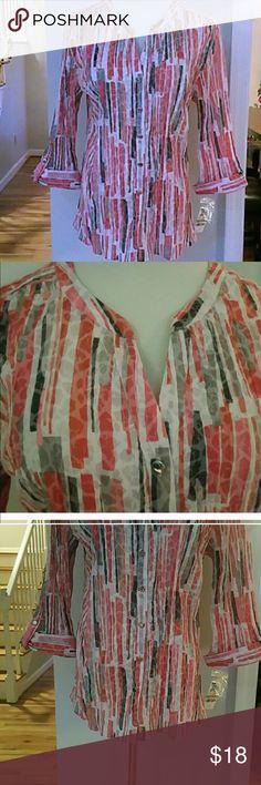 NWT JM COLLECTION BUTTON UP SHIRT NWT JM COLLECTION BUTTON UP SHIRT jm collection  Tops Button Down Shirts