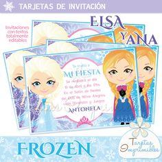 Kit imprimible Frozen para cumpleaños temático.