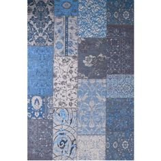 Tapis VINTAGE bleu azur - Bleu azur- Vue 1