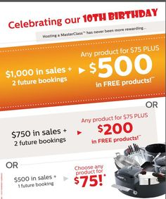 Our fantastic hostess rewards. Book your cooking party with me today. www.fb.com/cookingfun4everyone 0418 334909