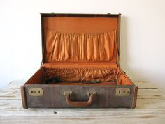 Vintage Hard-Sided Suitcase