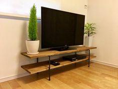 Wooden Tv Stands, Botanical Illustration, Rustic Furniture, Decoration, Home Improvement, New Homes, House Design, Shelves, Living Room