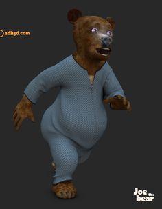 New free dynamic 3d cloth for the 3d figure Joe the bear