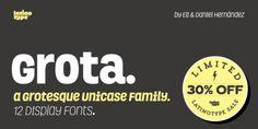 Font dňa – Grota   https://detepe.sk/font-dna-grota?utm_content=bufferb8fa3&utm_medium=social&utm_source=pinterest.com&utm_campaign=buffer