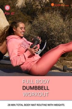 Hiit Workout At Home, Workout Videos, At Home Workouts, Floor Exercises, Floor Workouts, Full Body Dumbbell Workout, Strong Body, Total Body, Burn Calories