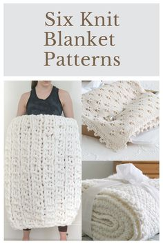From thick and chunky knit blankets to sweet and delicate baby blankets, you should find something to keep your knitting needles busy with these 6 Knit Blanket Patterns. Cable Knit Blankets, Knitted Baby Blankets, Knitted Afghans, Knit Dishcloth, Blanket Patterns, Knitting Patterns, Linen Stitch, Chunky Blanket, Knitting Needles