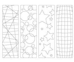 Blank Bookmark Template  Papirbilder Bakgrunner Osv