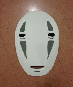 """This is a handmade """"No Face"""" Mask.  It is 17.5"""" x 12"""".  It will be made of thick foam and paper mache only, sanded down, and painted.  There is an opening at the mouth.  This can be used for cosplay purposes or hung up in your house as decoration :)  If you need advice how to use this mask as c..."""