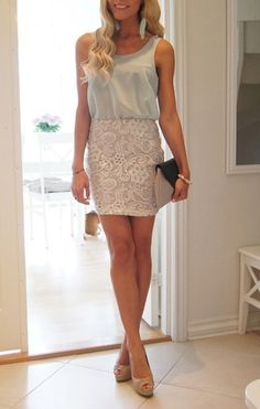 classy outfit for a romantic dinner date.