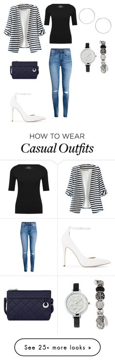 """""""Business Casual"""" by cheapqueen2k17 on Polyvore featuring H&M, ALDO, Miss Selfridge, Jessica Carlyle, M&Co, WithChic and Travelon"""
