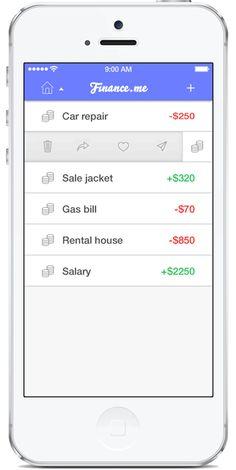 Finance App Design Template (iOS7)