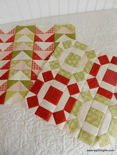 Red and Green Quilt Blocks | A Quilting Life - a quilt blog