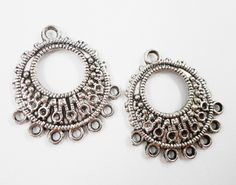 Silver Chandelier Earring Connectors 33x24mm Antique Silver 9 to 1 ...