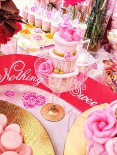 pink cupcake tier desserts #wedding #birthday