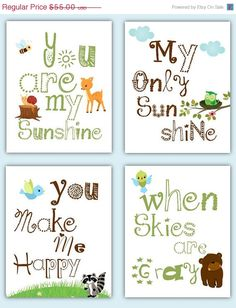 """Too perfect! Combines my former """"You Are My Sunshine"""" nursery theme with the new one!"""