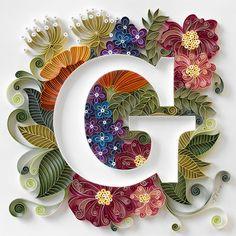 Quilled G  Artist Anna Chiara Valentini