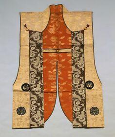 Jinbaori (Samurai's Surcoat). Silk. Circa Edo Period. Worn Over Armour.