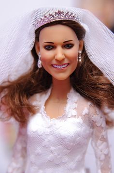 Launch of the Arklu Catherine Duchess of Cambridge Wedding Doll and Prince William Doll at Hamleys, London, Britain - 18 Aug Duchess of Cambridge Wedding Doll 18 Aug 2011 Kim Kardashian Kanye West, Kim And Kanye, Wedding Doll, Prince William, Duchess Of Cambridge, Celebrity Pictures, Britain, Pearl Earrings, Product Launch