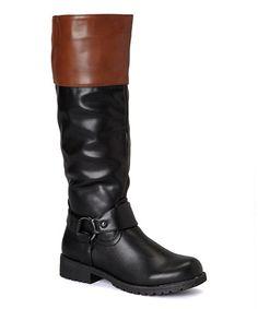 Look what I found on #zulily! Black & Cognac Vivienne Boot #zulilyfinds