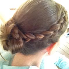 Over braid into a braided bun