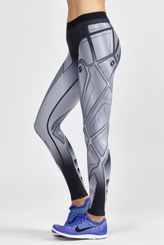 new styles fa261 8d0c1 The Ultra Silk Robo Print Legging by Ultracor is a full-length legging with  built